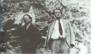Aub y Malraux al pie de Montserrat. 1938